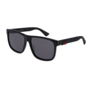 Men's Square-frame Sunglasses - Black/Grey GG0010S-001