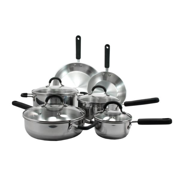10Pc Stainless Steel Cookware Set (1) 35029