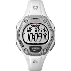Women's Ironman Traditional 30-Lap White Resin Strap Watch T5K515
