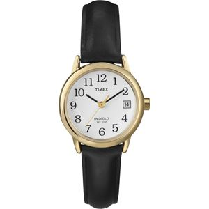 Women's Easy Reader Black Leather Strap Watch T2H341