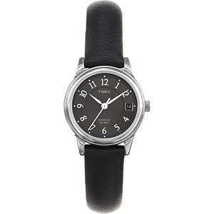 Women's Elevated Classics Dress Black Leather Strap Watch T29291