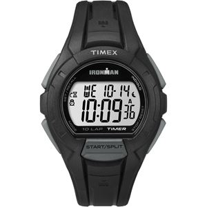 Men's Ironman Essential 10-Lap Recall Timer Sport Watch - Gray and Black TW5K94000