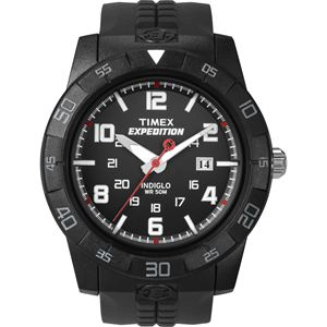 Men's Expedition Rugged Analog Black Resin Strap Watch T49831