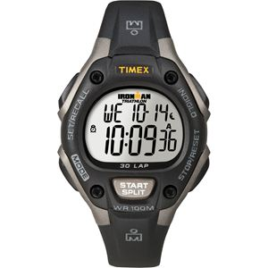 Unisex Ironman Traditional 30-Lap Black and Gray Resin Strap Watch T5E961