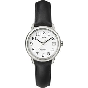 Women's Easy Reader Black Leather Strap Watch T2H331