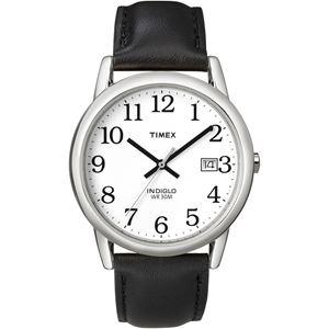 Men's Easy Reader Black Leather Strap Watch T2H281