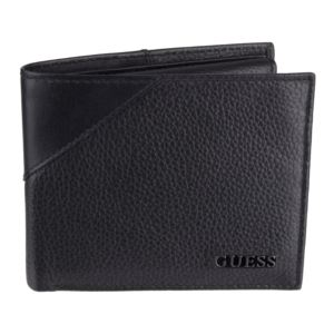 Men's Leather Passcase Bifold Wallet- Black 31GU22X003