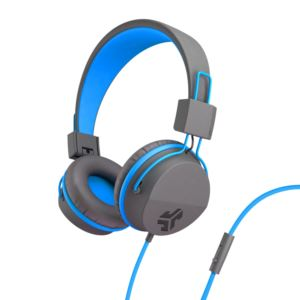 JBuddies Studio Over Ear Kids Headphones, Blue/Gray JKSTUDIO-GRYBLU-BOX