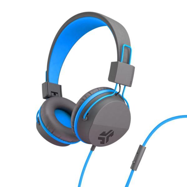 JBuddies Studio Over Ear Kids Headphones, Blue/Gray JKSTUDIO-GRYBLU-BOX