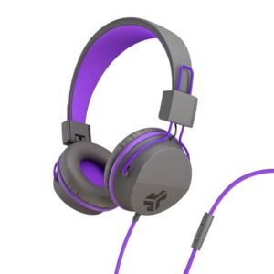 JBuddies Studio Over Ear Kids Headphones, Purple/Gray JKSTUDIO-GRYPRPL-BOX