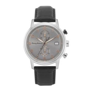 Men's Coastline Chronograph Watch with Grey Sunray Dial and Black Strap TB00092-01