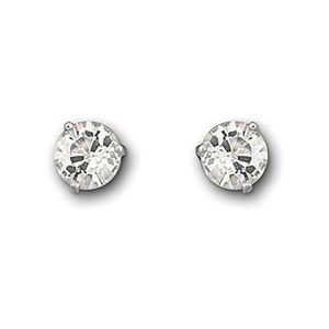 Solitaire Pierced Earrings 1800046-1