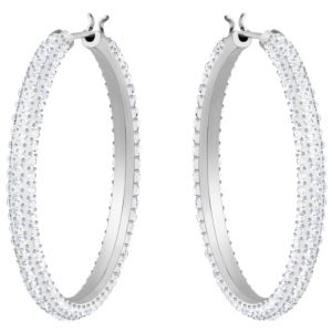 Stone Pierced Hoop Earrings 5389432-1