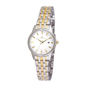 Women's White Dial Watch with Two-tone Stainless Steel Bracelet TAL322-TT