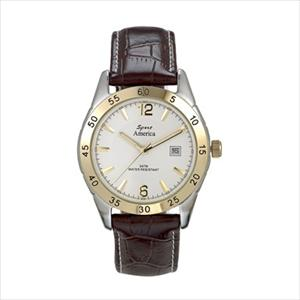 Men's Two-Tone Casual Leather Strap Watch With SAM100-TT