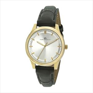 Women's Silver Dial and Black Strap Watch TAL306-GD