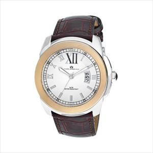 Men's White Dial Brown Croco Leather Watch TAM319