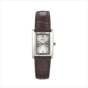 Women's Two-Tone Tank Style Leather Strap Watch TAL102-TT