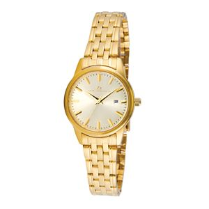 Women's Champagne Dial Watch with Gold-tone Stainless Steel Bracelet TAL322-GD