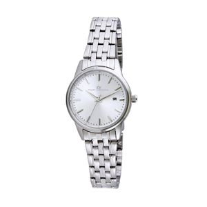 Women's Silver Dial Watch with Stainless Steel Bracelet TAL322-SLV