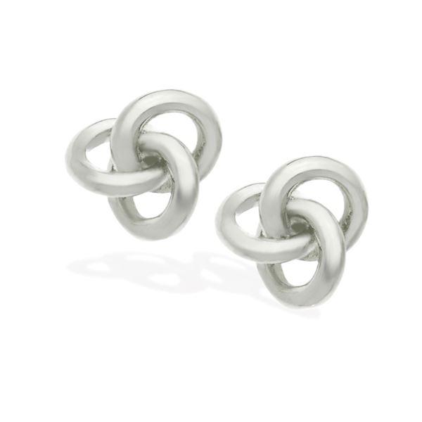 Love Knot Earrings - Silver T-343593