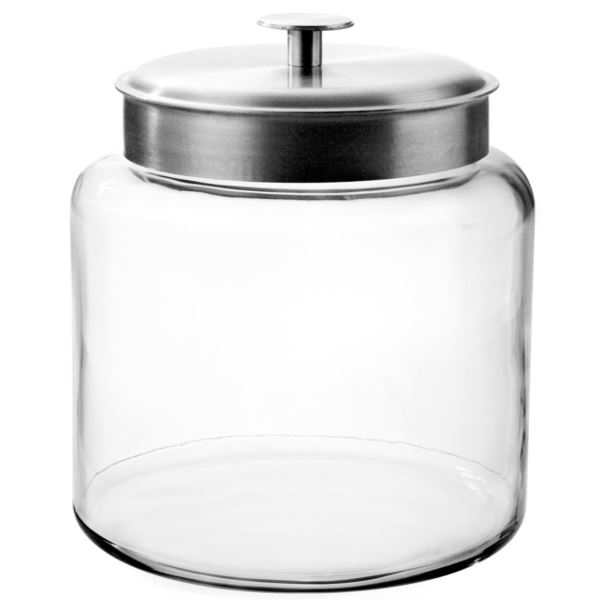 1.5 Gallon Montana Jar with Brushed Aluminum Metal Cover 95506AHG17