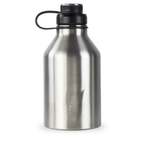 BOSS - 64oz TriMax Triple Insulated Growler with 2-Piece Screw Cap and Infuser - Silver GRL1900SE