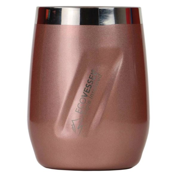 Port - Rose Gold 10oz TriMax Triple Insulated Wine Cup and Rocks Glass with Tritan Lid PORT10RG