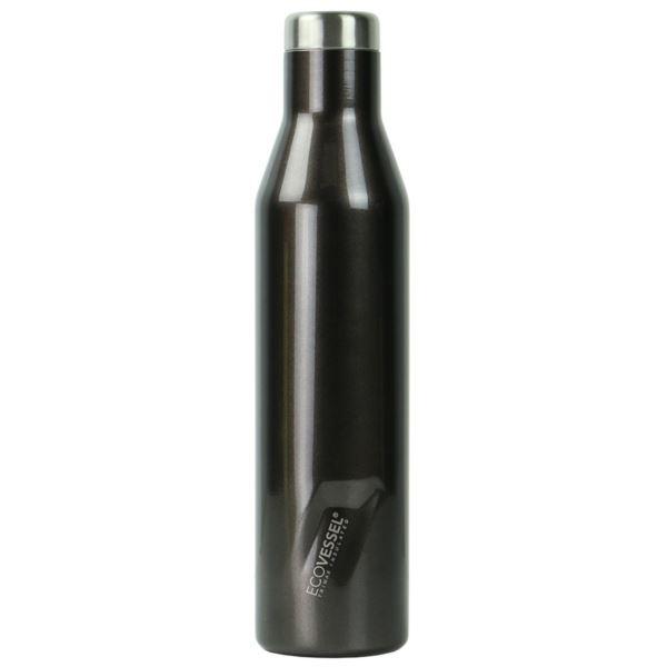 The Aspen - Grey Smoke Insulated Stainless Steel Water & Wine Bottle - 25 Oz ASPN25GS
