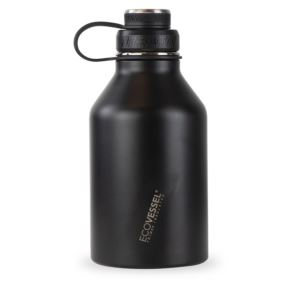 BOSS - 64oz TriMax Triple Insulated Growler with 2-Piece Screw Cap and Infuser Black GRL1900BS
