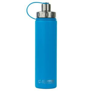 BOULDER - 24oz TriMax Triple Insulated Bottle with 2-Piece Screw Cap and Strainer - Blue BLD700HB