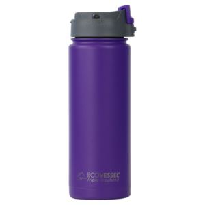 Perk - 20Oz TriMax Triple Insulated Bottle With Push-Buttom Flip Lid - Purple PER600PH