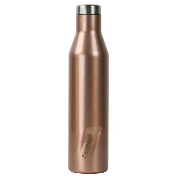 The Aspen - Rose Gold Insulated Stainless Steel Water & Wine Bottle - 25 Oz ASPN25RG