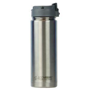 Perk - 20Oz TriMax Triple Insulated Bottle With Push-Buttom Flip Lid - Silver PER600SE