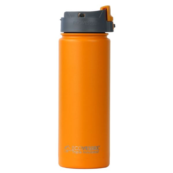 Perk - 20Oz TriMax Triple Insulated Bottle With Push-Buttom Flip Lid - Mango PER600MM