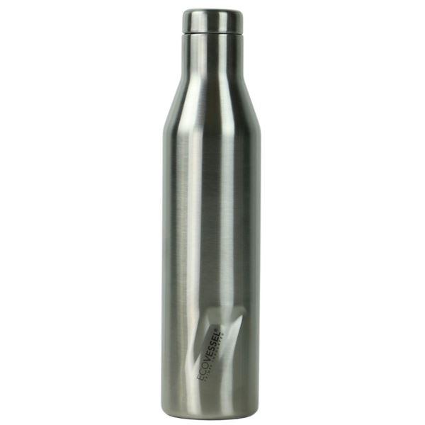 The Aspen - Silver Insulated Stainless Steel Water & Wine Bottle - 25 Oz ASPN25SE
