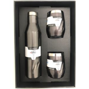 Aspen and Port Bundle - Insulated Stainless Steel Bottle and 2 Cups - Grey Smoke ASPNPORTGS