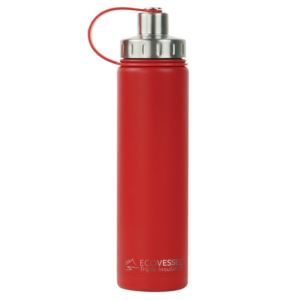 BOULDER - 24oz TriMax Triple Insulated Bottle with 2-Piece Screw Cap and Strainer - Red BLD700RD
