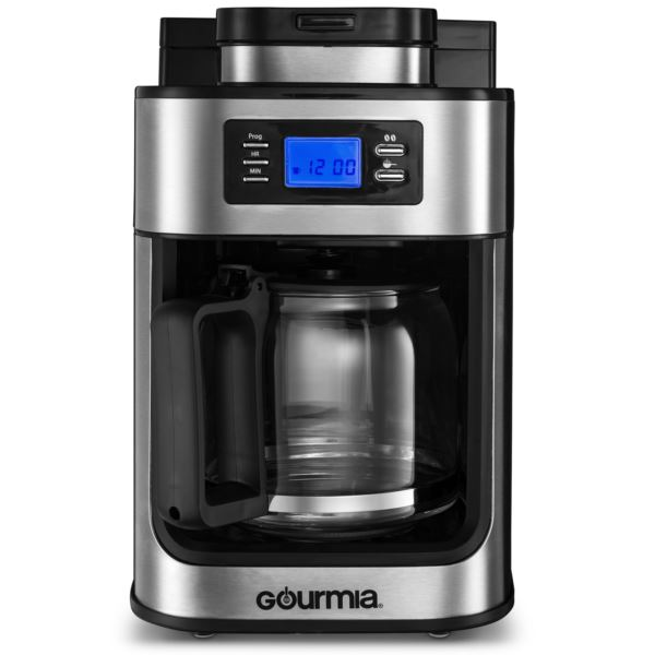 Coffee Maker w/ Built In Grinder, Programmable 10 Cup Automatic Drip, LED Display GCM4700