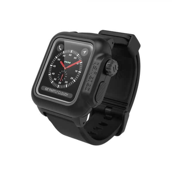 Catalyst® waterproof case for Apple Watch Series 3 / 2, 38mm - Stealth Black CAT38WAT3BLK