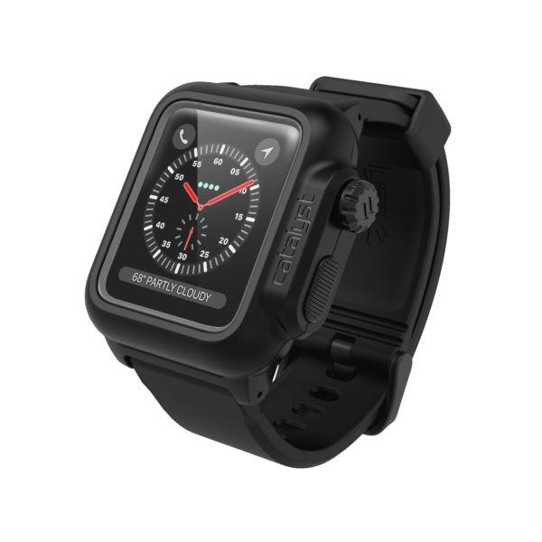 Catalyst® waterproof case for Apple Watch Series 3 / 2, 42mm - Stealth Black CAT42WAT3BLK