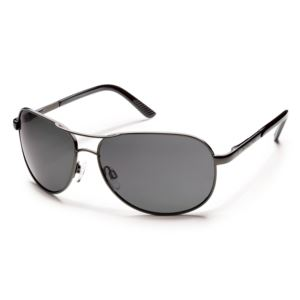Suncloud Aviator Polarized Sunglasses -  Gunmetal/Gray S-AVPPGYGM