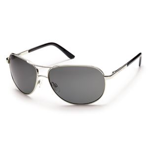 Suncloud Aviator Polarized Sunglasses -  Silver/Gray S-AVPPGYSV