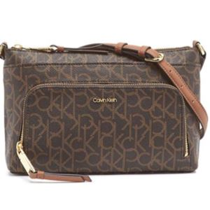 Hayden Monogram Saffiano Crossbody - Brown/Khaki/Luggage H7DEJ2CR-B8L