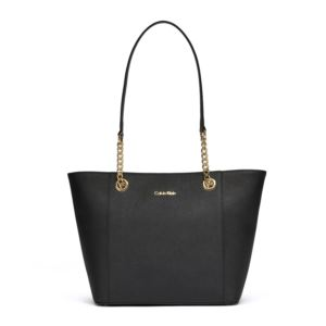 Hayden Saffiano Leather Tote - Black/Gold H8AA18DS-BGD