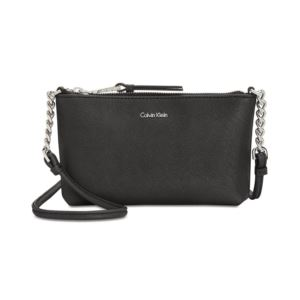 Saffiano Crossbody - Black/Silver H7DE12CR-BSV