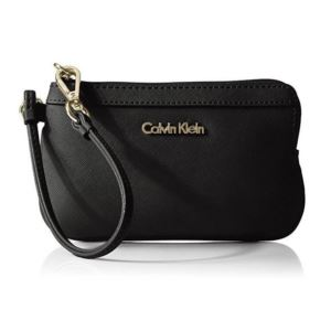 Saffiano Leather Wristlet - Black H6JL16JH-BGD