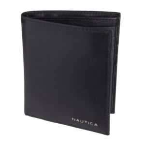 Men's Leather Credit Card Organizer Wallet - Black 31NU19X003