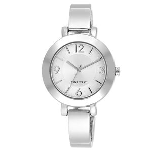 Women's Silver-Tone Bangle Bracelet Watch NW-1631SVSB