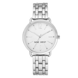 Women's Silver-tone Crystal Accented Watch NW-2151SVSV